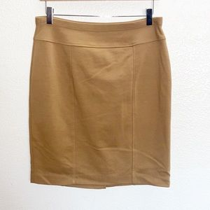 Ellen Tracy Camel Bodycon Work Fitted Pencil Skirt